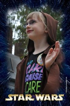 Abby taking her Jedi Oath