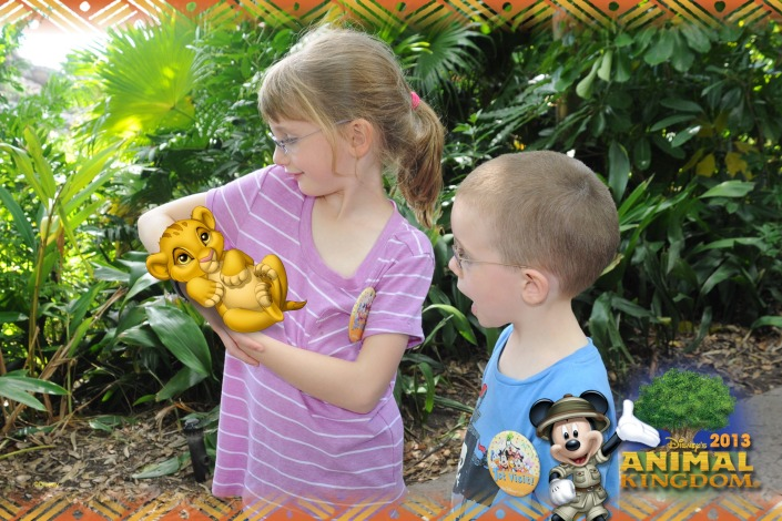 The Kids holding Simba
