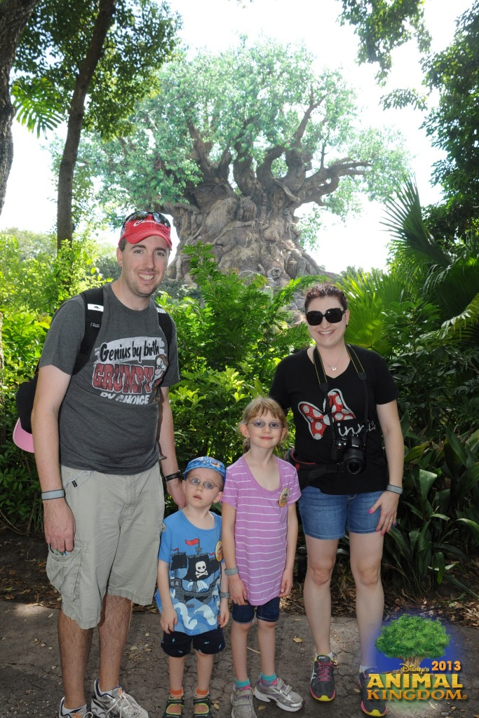 The family in front of the Tree of Life