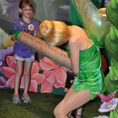 Abby playing with Tinker Bell in her Nook