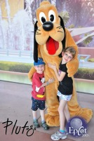 The kids meeting Pluto
