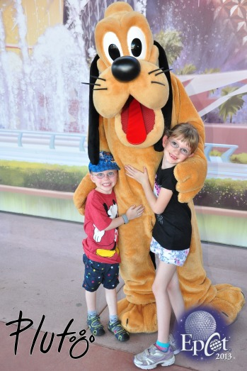 The kids meeting Pluto
