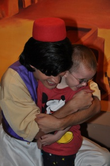 Aladdin hugging Aiden