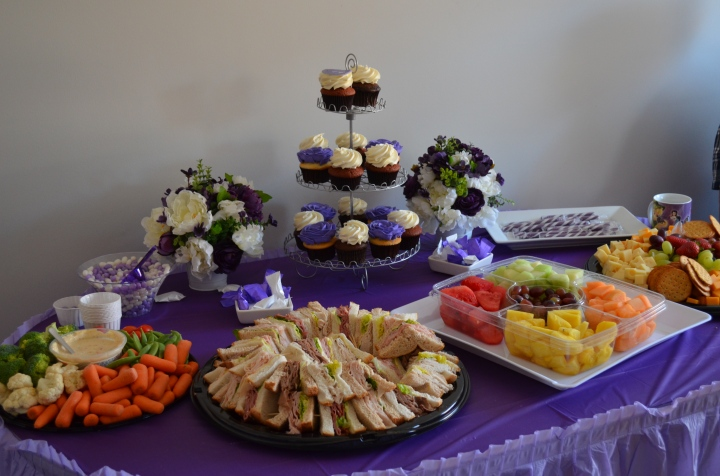 Food table for Abby's communion