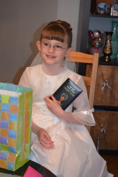 Abby with her Missal