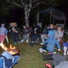 Roasting marshmallows by the fire on Fri Evening