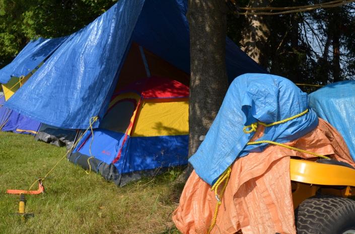 Jordan's (Stephanie's boyfriend) kids size tent.
