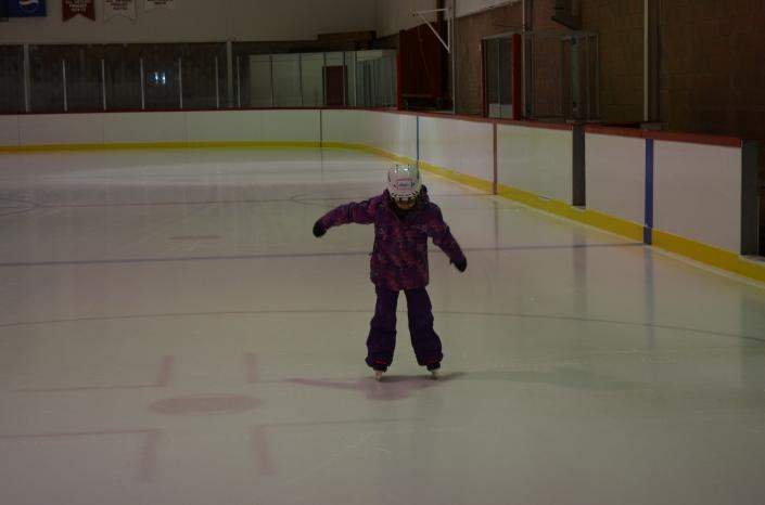 Abby skating at Warsaw Arena