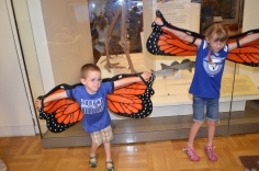 Aiden and Abby pretending to be butterfly's
