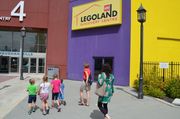 Rachel, Melissa and the kids on their way into Legoland