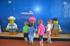 William, Aiden, Abby and Ava looking at Lego Figures