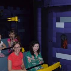 Rachel, Melissa, Ava and Abby after finishing Kingdom Ride