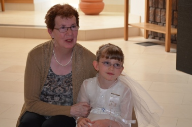 Abby with Grandma