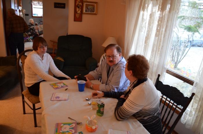 Susan, Mark and Jackie visiting.