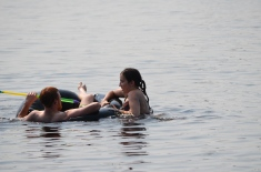 Phillip and Stephanie L in the inner tube