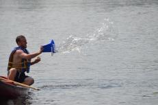 Jordan throwing at the dock