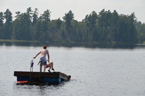 Lucas throwing Shauna into the River