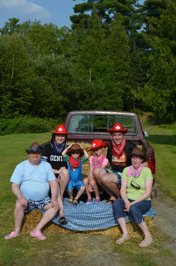 Bruce, Melissa, Aiden, Abby, Peter and Jackie in our cowboy attire.
