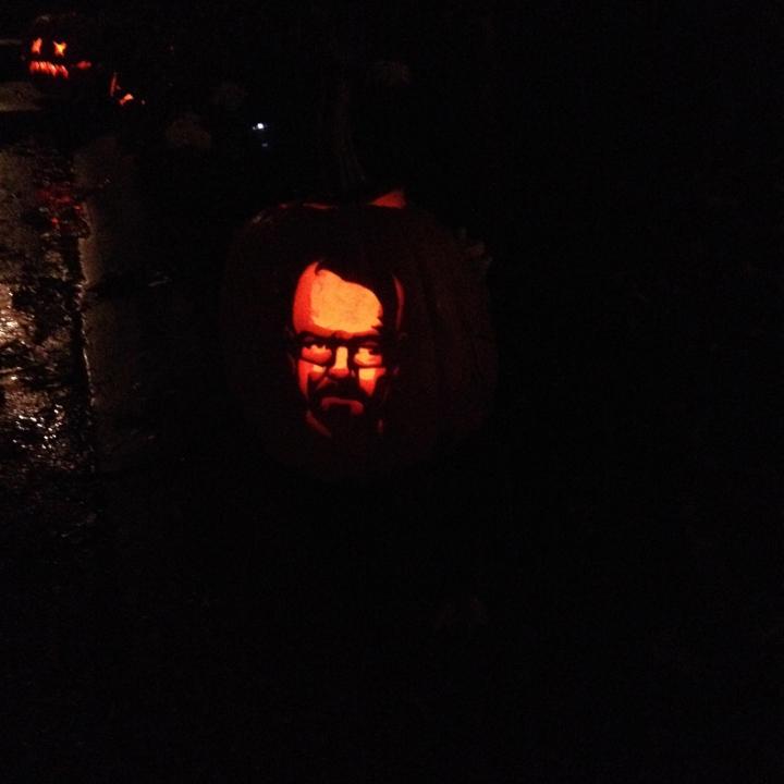 Walter White Jack O Lantern at Jessica's house!!!