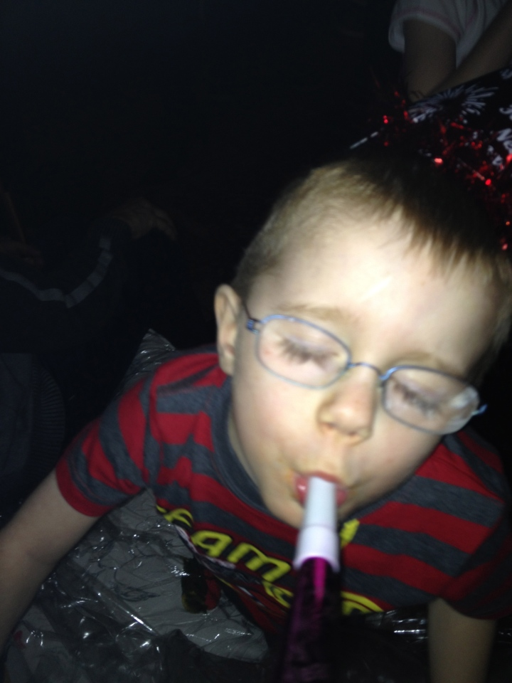 Aiden partying it up