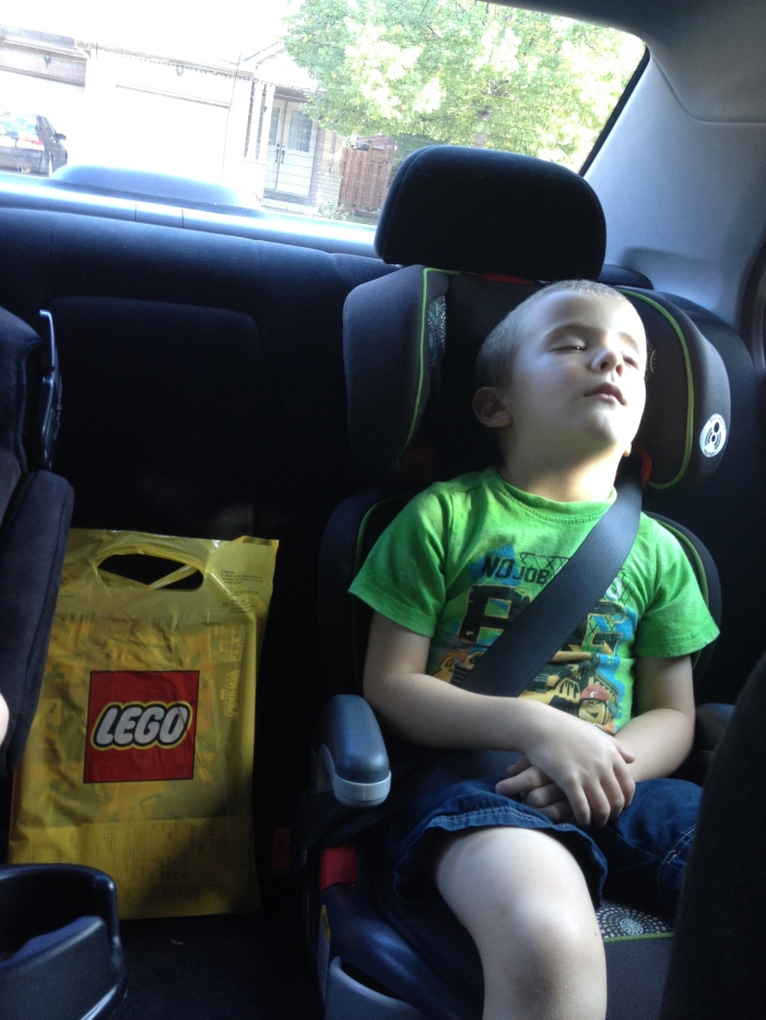William after a busy day at Legoland
