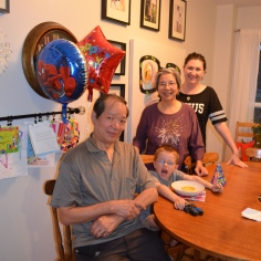 GongGong Ted, Aiden, Popo Sandra and Melissa