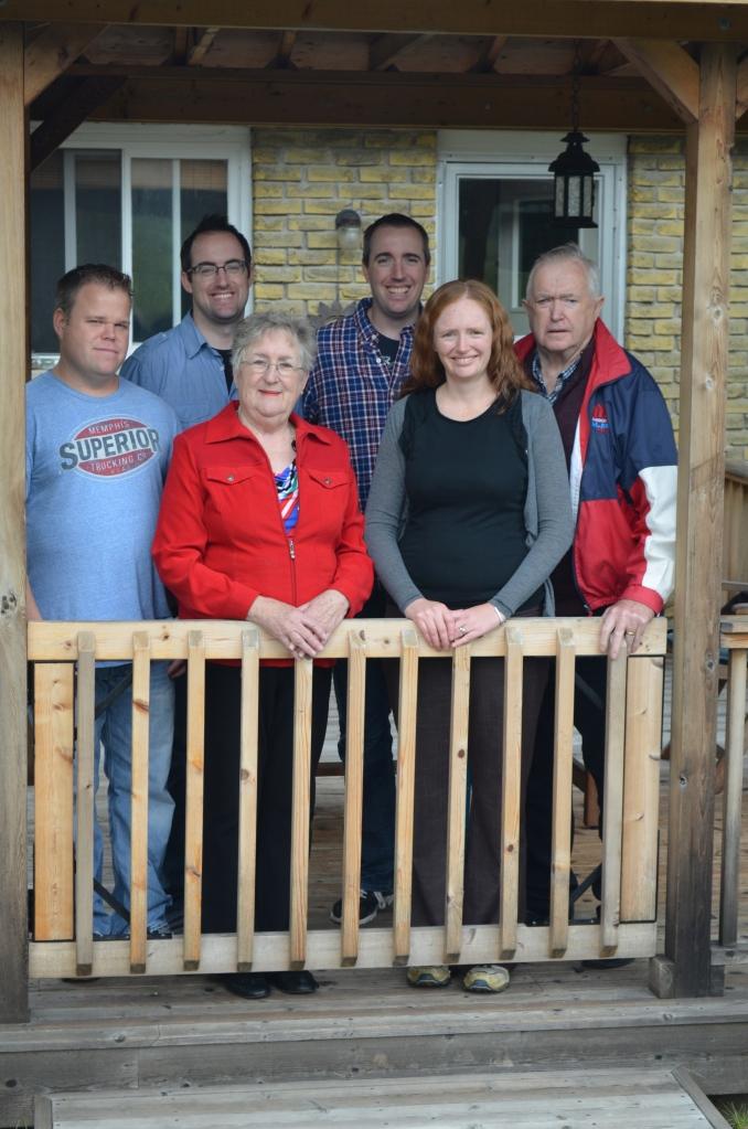 The Cain's: Jason, Rob, Ann, Peter, Julie and Bernard.
