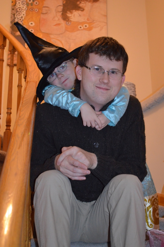 Aiden the witch hanging out with Uncle Shawn