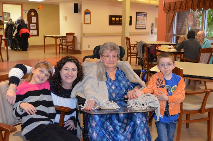Abby, Melissa & Aiden with Auntie Corrie.