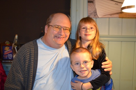 Grandpa with Abby & Aiden at Jacks