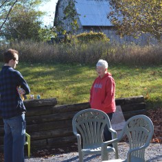 Rob visiting with Aunt Linda