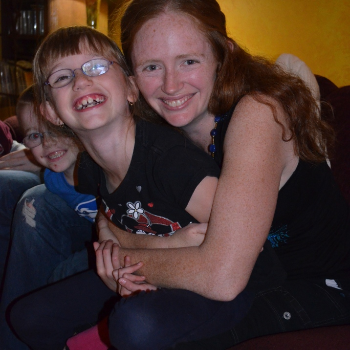 Aiden & Abby with their Auntie Julie