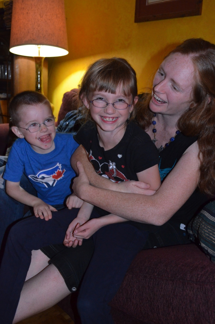 Aiden & Abby with Auntie Julie