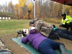 Melissa shooting rifle