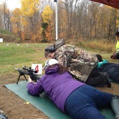 Melissa shooting rifle