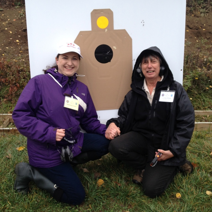 Melissa with Auntie Linda in front of her target