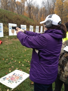 Melissa shooting handgun.