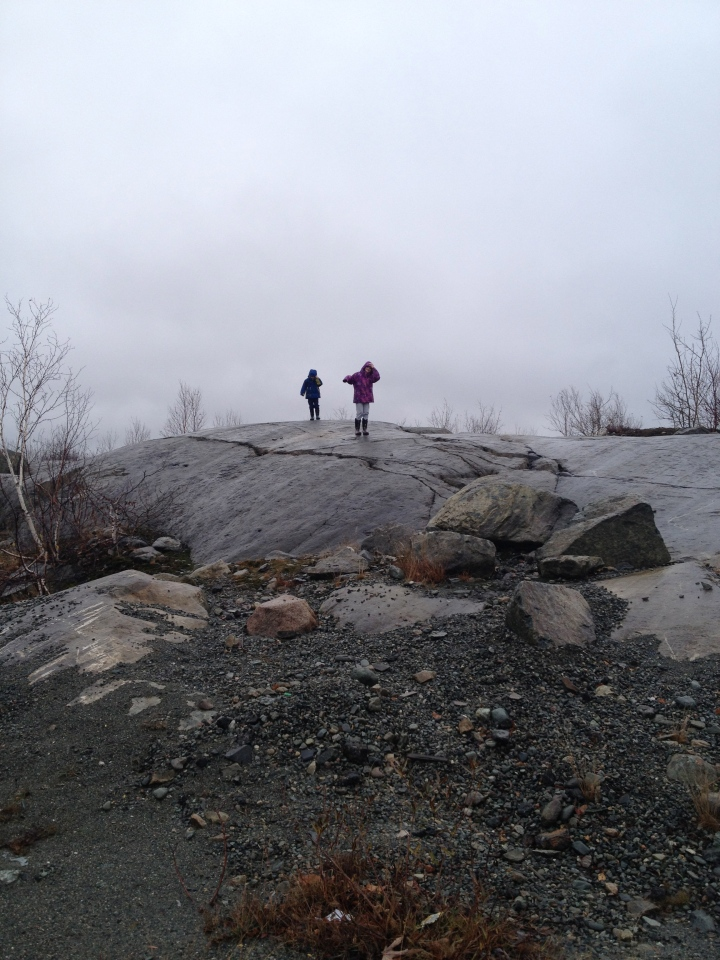 Kids playing on the same rocks their Mom played on as a child.