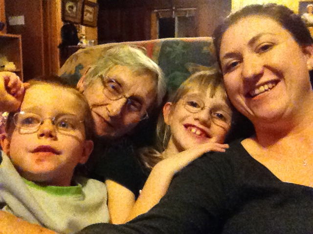 Auntie Joyce, Melissa, Abby and Aiden selfie :)