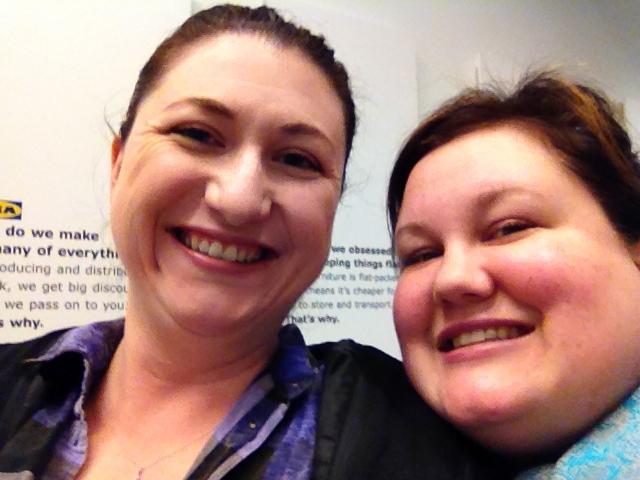 Megan and Melissa selfie at IKEA
