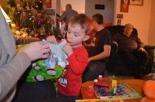 Christmas Evening 2014 Macklan checking things out
