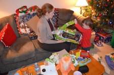Christmas Evening 2014 Macklan opening presents