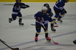 Abby playing Steelhead Mini Game 2014