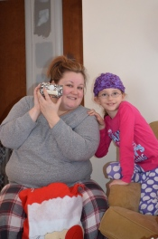 Abby with Auntie Megan