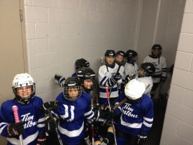 Abby waiting to go on the ice