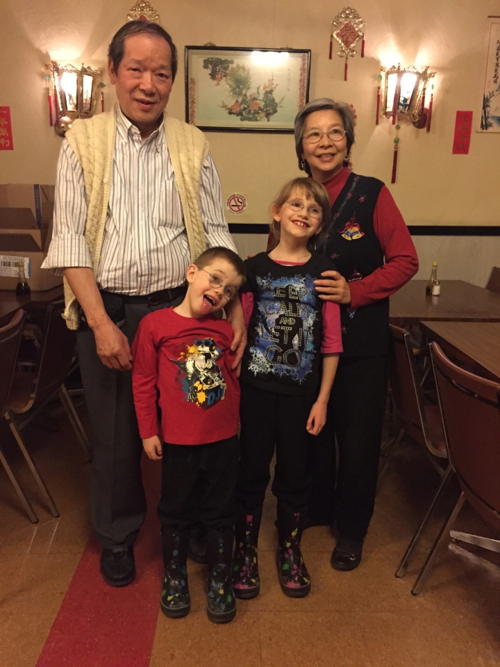 Christmas dinner with Ted & Sandra