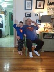 The 2 Superman's Grandpa Miller and Aiden