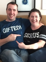 Melissa & Peter with their new shirts