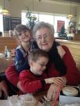 Aiden and Abby huggin Mama