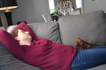 Marley and Melissa catching a much earned nap.